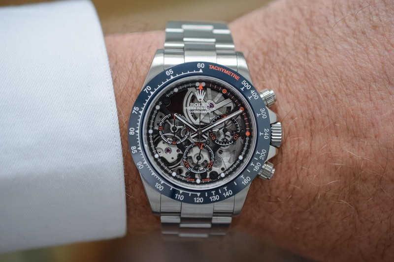 """Artisans de Genève """"La Blausee"""" – A Skeletonized and Hand-Wound Take on the Rolex Daytona"""