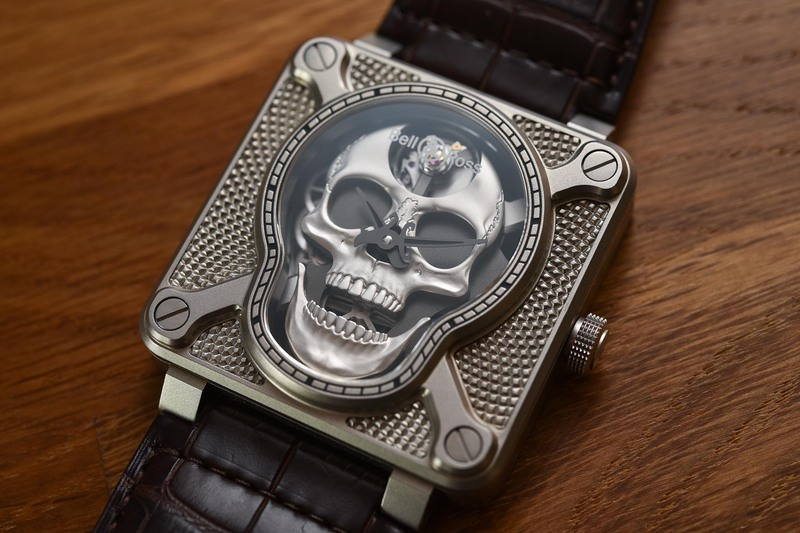 Bell & Ross BR-01 Laughing Skull (and a video of its unexpected animation…)