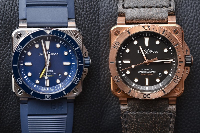 Bell & Ross Expands the BR03-92 Diver Collection with Blue and Bronze Editions