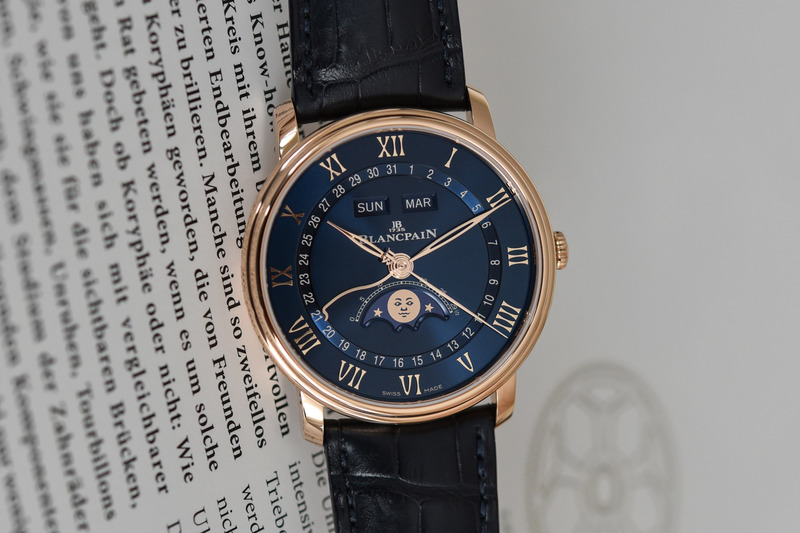 Blancpain Villeret Quantième Complet, now in Red Gold with Refined Blue Dial