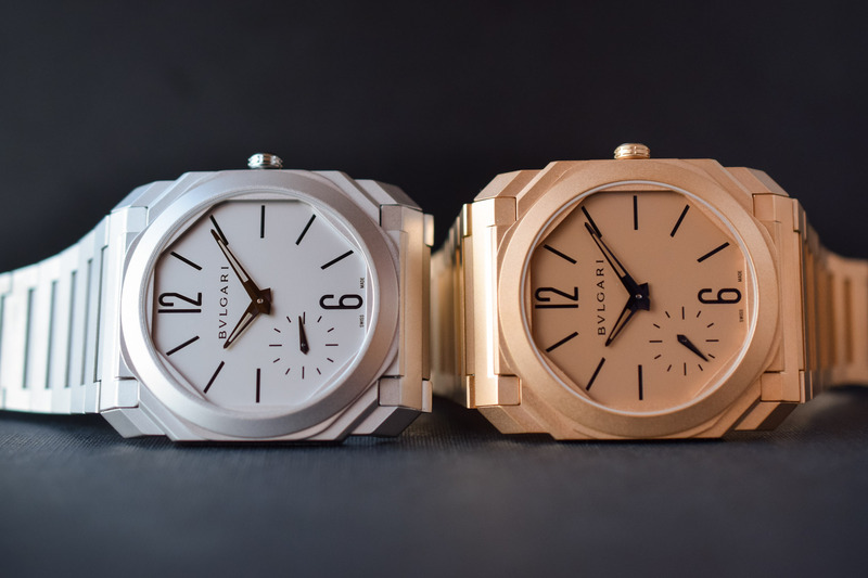 Bvlgari Introduces the Octo Finissimo Automatic Sandblasted Trilogy (now in Steel or Gold, in addition to Titanium)