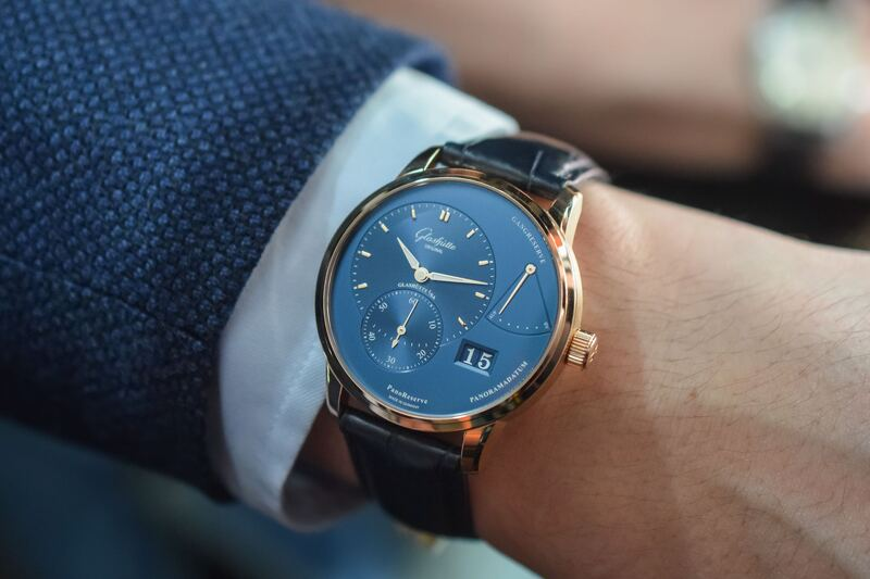 Glashütte Original PanoMaticLunar and PanoReserve Now In Blue/Gold