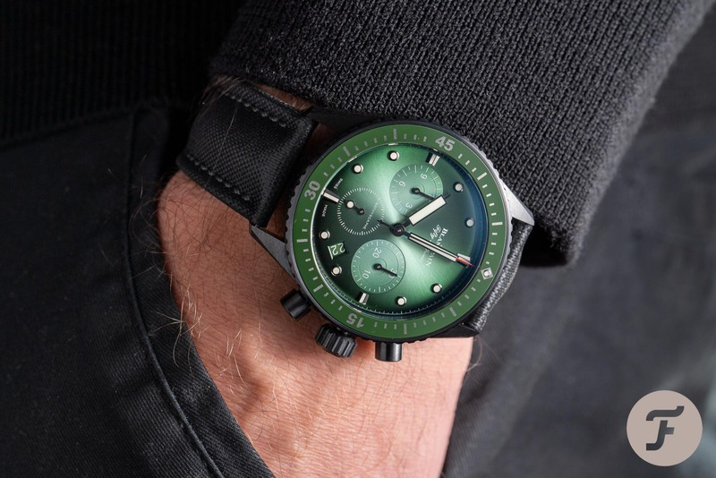Hands-On With The Blancpain Fifty Fathoms Bathyscaphe Chronograph Flyback In Green