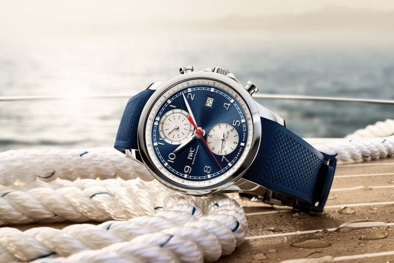 """IWC Debuts The Portugieser Yacht Club Chronograph """"Summer Edition"""" Along With a Collection of New Fabric Straps"""