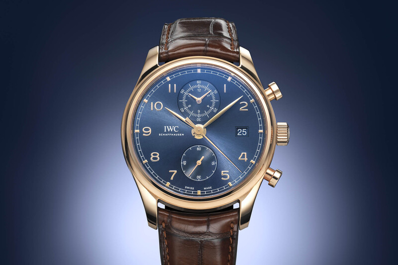 IWC Portugieser Chronograph Classic Bucherer Blue Editions in Red Gold