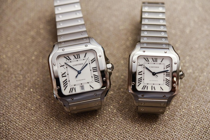 Is the mid-size Santos de Cartier the best option, or is it a classic poor man's choice?