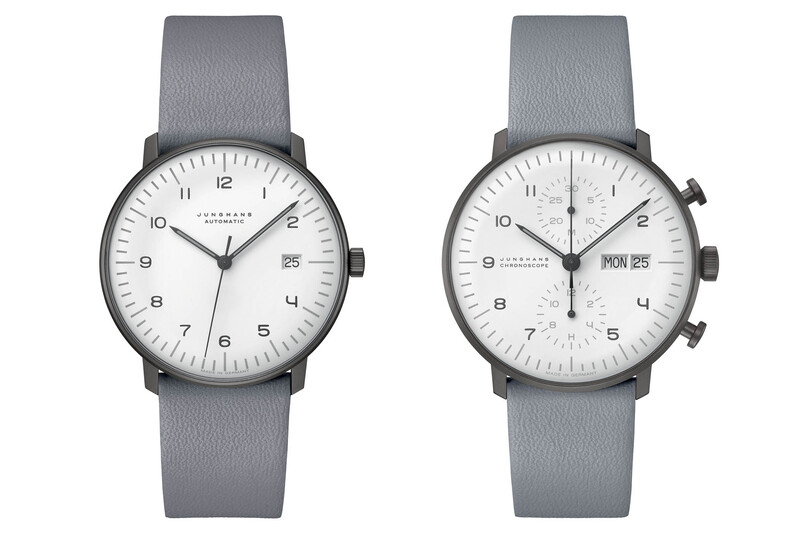 Junghans Max Bill Models in Black & White and Shades of Grey