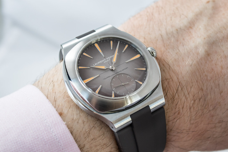 """Laurent Ferrier Enters the """"Luxury Sports Watch"""" Category with the Tourbillon Grand Sport (Live Pics)"""