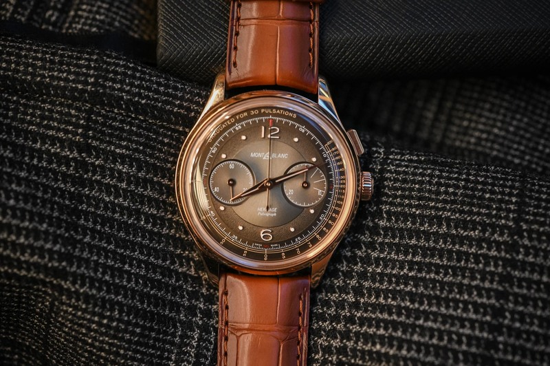 Montblanc Heritage Manufacture Pulsograph Limited Edition, Now in Rose Gold with a Brown Dial