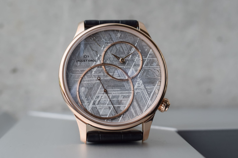 New Jaquet Droz Grande Seconde Off-Centered with Meteorite or Stromatolite Dials