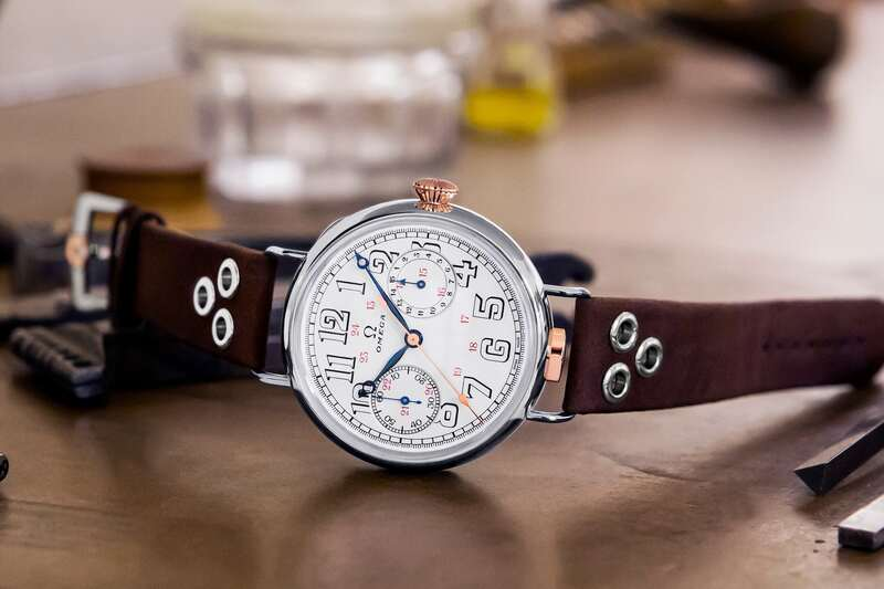 Omega Reissues Its First Ever, 1913 Wrist-Chronograph and Fits Original Vintage Movements Inside