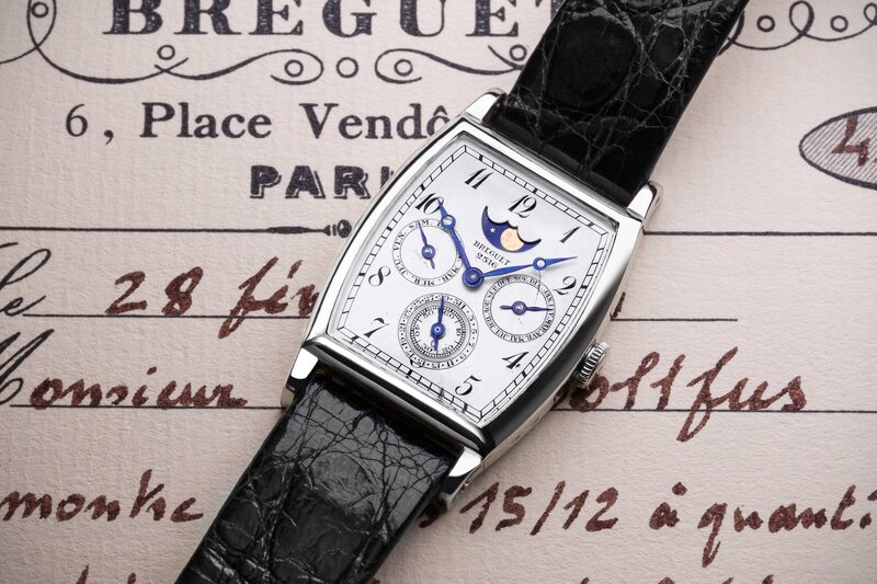 """(Possibly) The First-Ever Purpose-Built Perpetual Calendar Wristwatch, the Breguet """"Dollfus"""" no. 2516"""