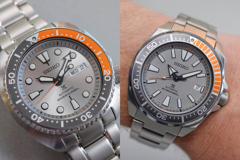 """Seiko Prospex """"Dawn Grey"""" Europe-Only Limited Editions, Turtle SRPD01K1 & Samurai SRPD03K1"""