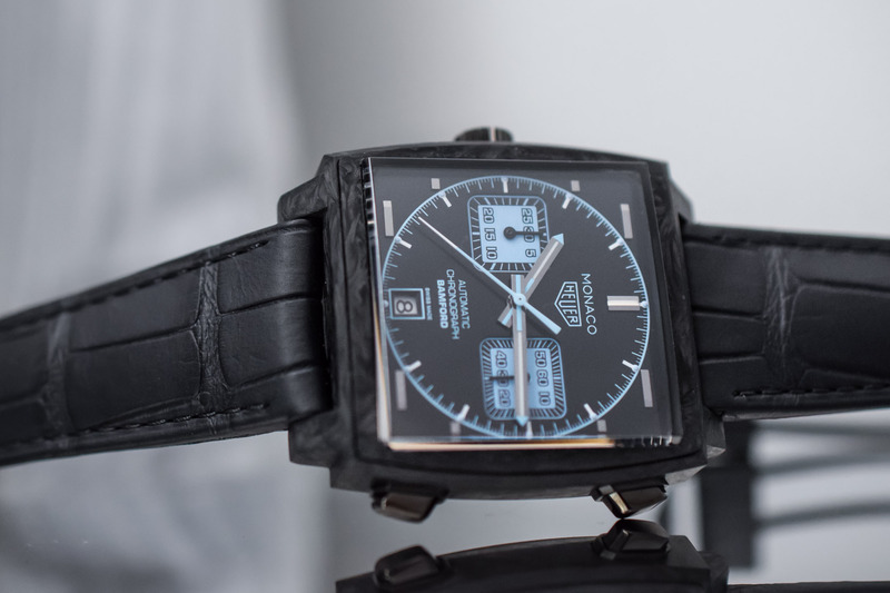 TAG Heuer Unveils the Carbon Monaco, Made with Bamford Watch Department