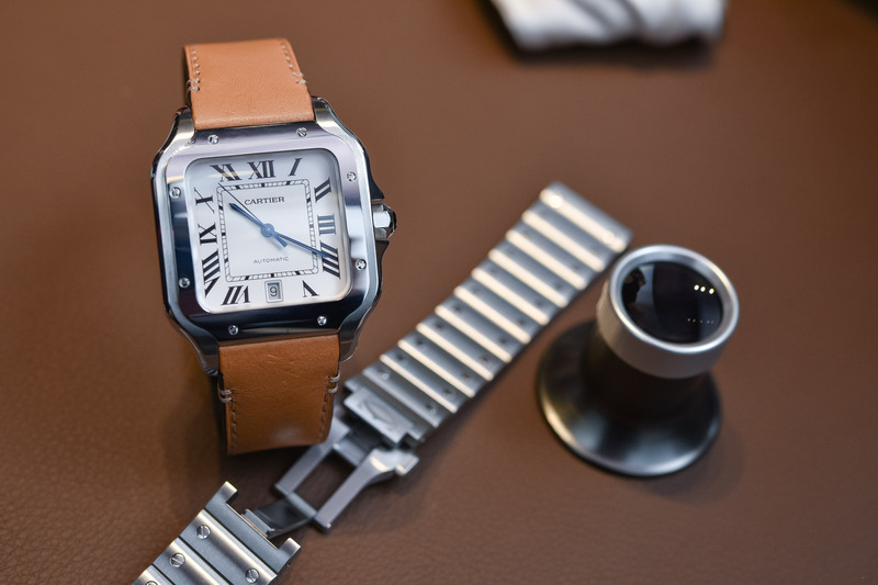 The 2018 Cartier Santos Large Size, with New Design and Cool Strap/Bracelet Features