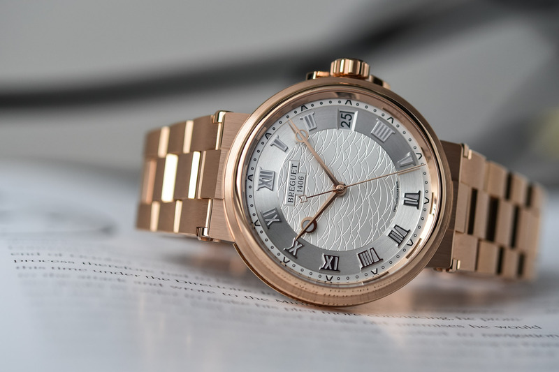 The Breguet Marine Collection, now on Integrated Gold Bracelets (Live Pics)
