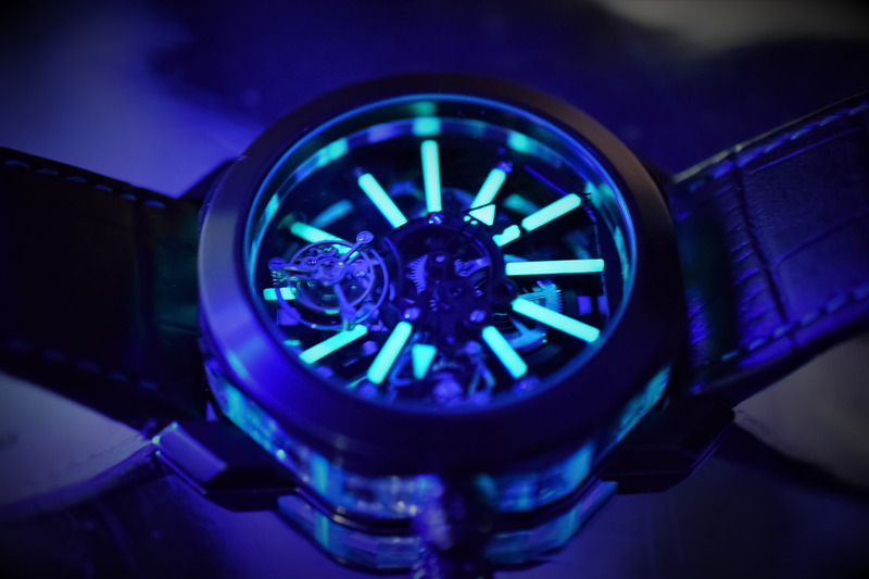 The Bulgari Octo Tourbillon Sapphire now in a Black DLC case with Glowing Blue Accents
