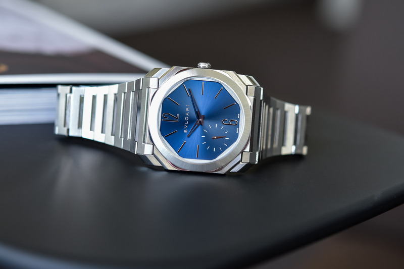 The Bvlgari Octo Finissimo Automatic Steel Satin-Polished, Now with Blue Dial