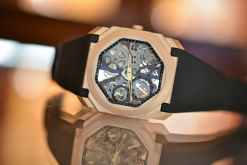 The Bvlgari Octo Finissimo Skeleton now Available in Sandblasted Rose Gold