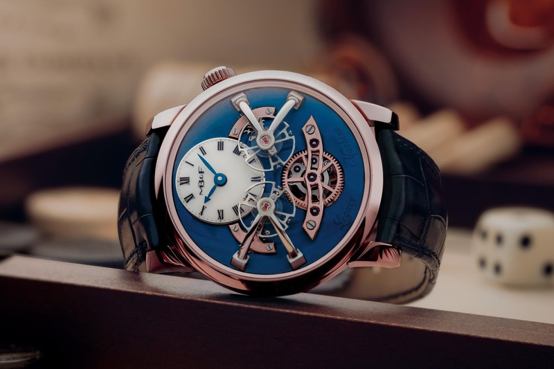 The MB&F LM2 Now in Red Gold with Blue Dial