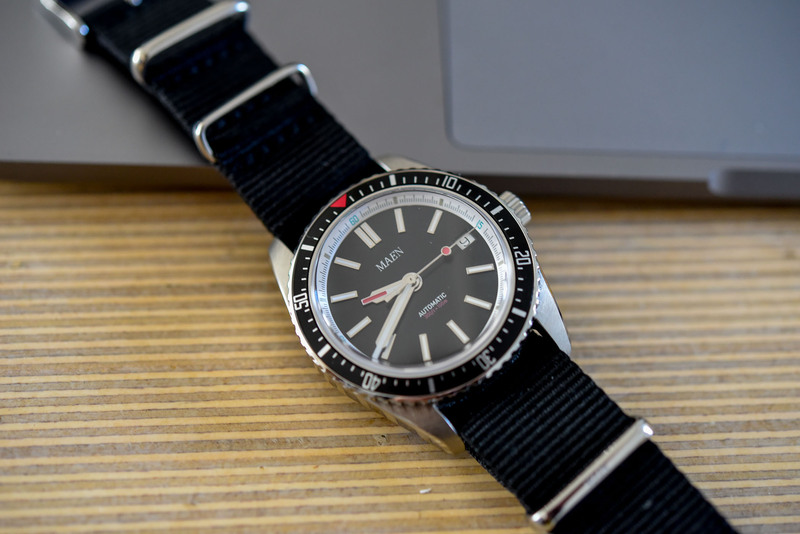 The Maen Hudson 38 Automatic – an Affordable, Vintage-Inspired Sub-Like Diver