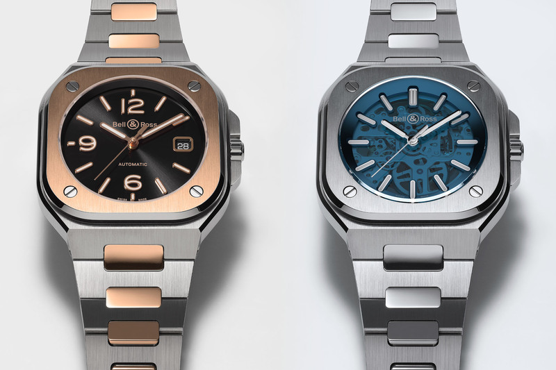 The New Bell & Ross BR 05 Steel & Gold and Skeleton Blue