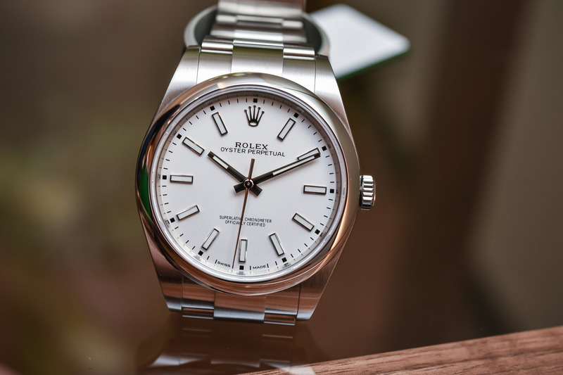 The New Rolex Oyster Perpetual 39 Ref. 114300 with a White Dial