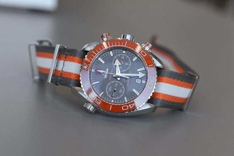 The Omega Seamaster Planet Ocean 600m Chronograph, Now in Grey and Orange