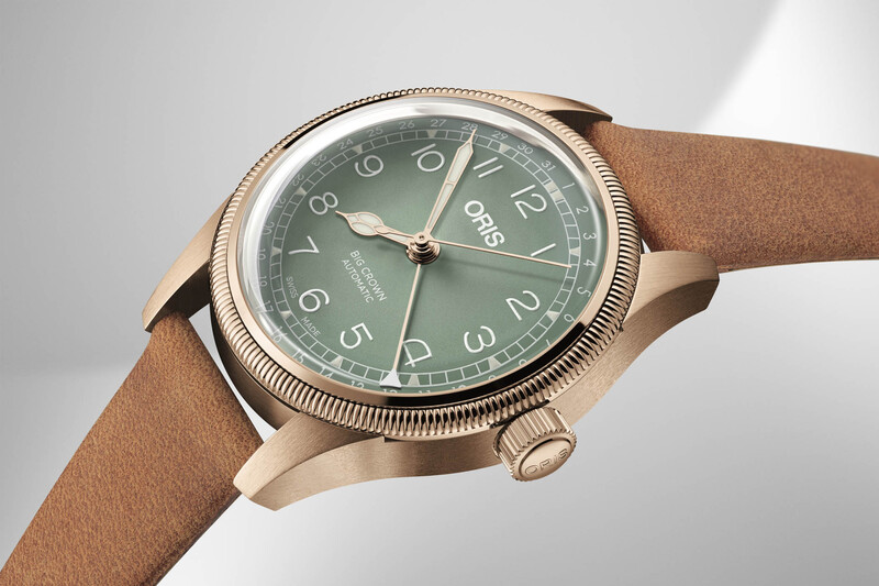 The Oris Big Crown Pointer Date, in Bronze and with 36mm Case