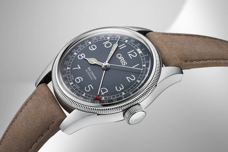 The Oris Big Crown Pointer Date, now in Steel with 36mm or 40mm case sizes