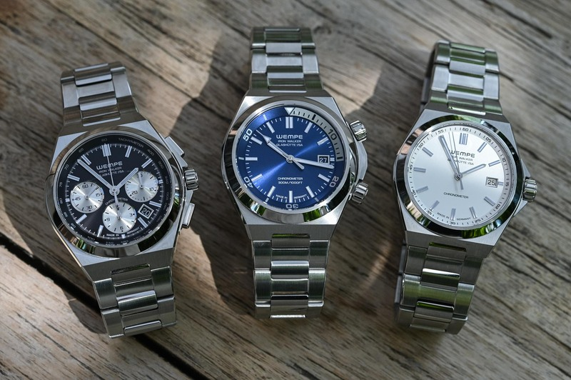 The Wempe Iron Walker, a New Sports Watch with Integrated Steel Bracelet (Live Pics & Price)
