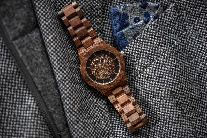The WoodWatch Explorer – A Skeletonized Automatic Wooden Watch that's a Sure-Fire Attention Getter