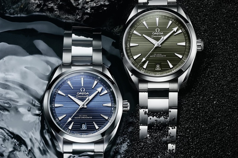 Two New Shades for the Omega Seamaster Aqua Terra, now in Blue or Green