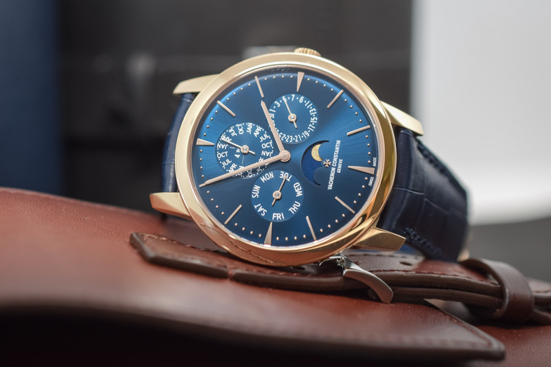 Vacheron Patrimony Perpetual Calendar Ultra-Thin Rose Gold and Blue Dial (Hands-On)