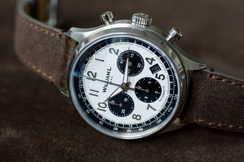 William L. 1985 Unveils one of the Most Affordable Automatic Chronographs on the Market (now on Kickstarter)